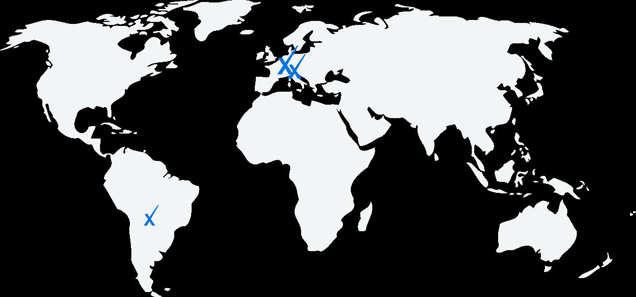 Karte Standorte Pronux GmbH